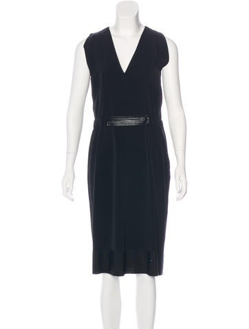 Balenciaga Sleeveless Midi Dress None