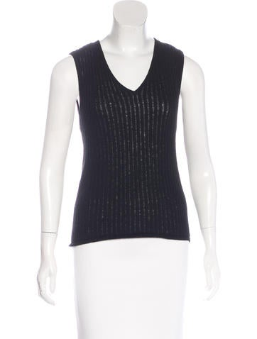 Balenciaga Rib Knit Cashmere Top None