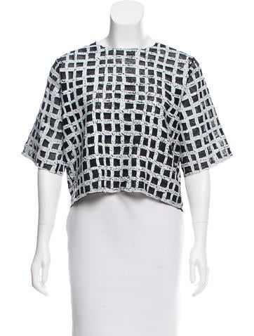 Balenciaga Coated Grid Top None