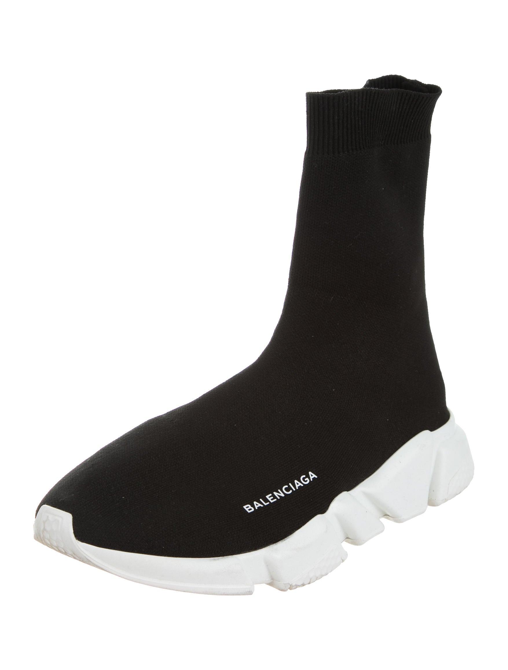Balenciaga 2017 Knit High Top Sneakers Shoes BAL