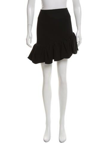 balenciaga pleated high low skirt clothing bal50065