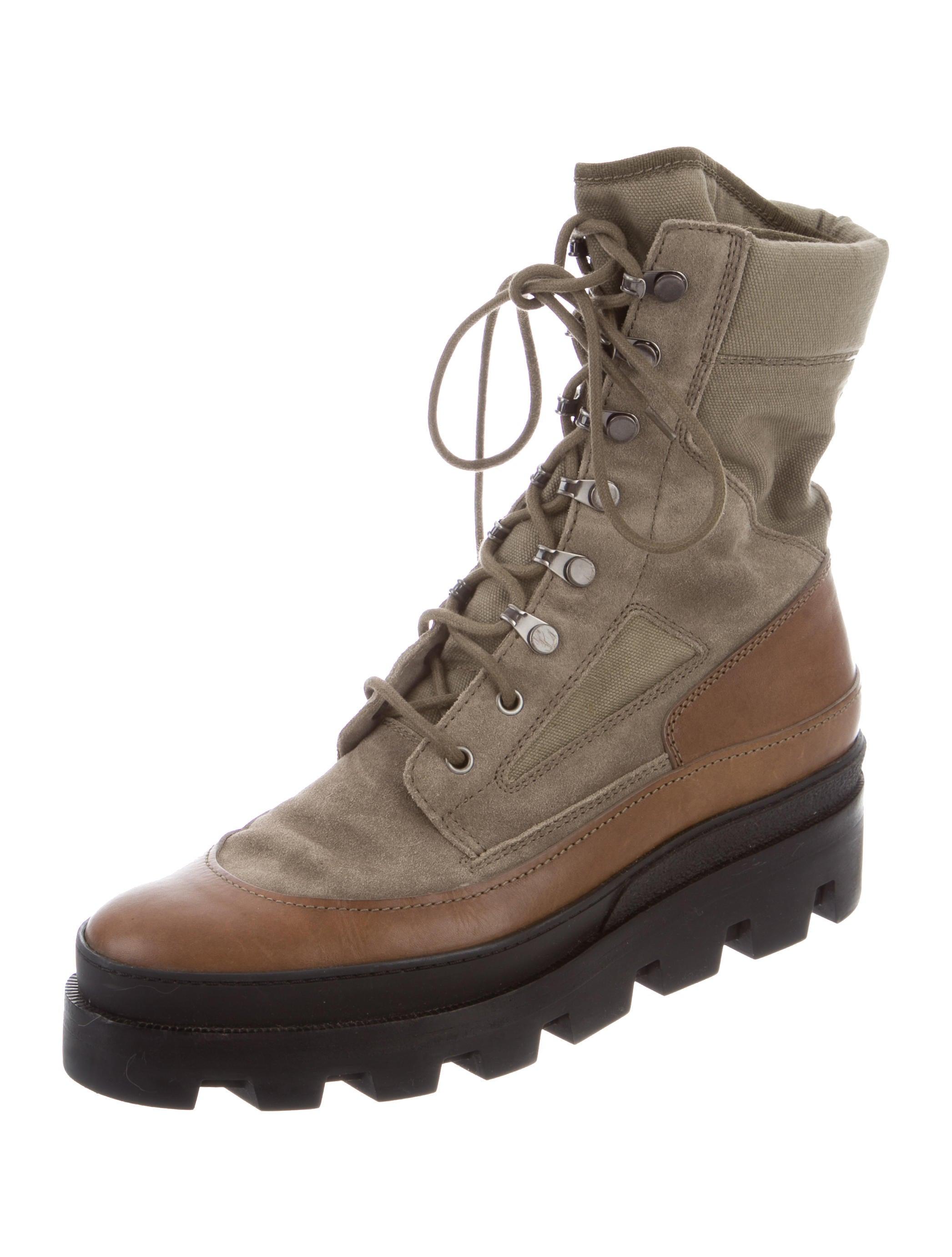 balenciaga leather trimmed platform boots shoes