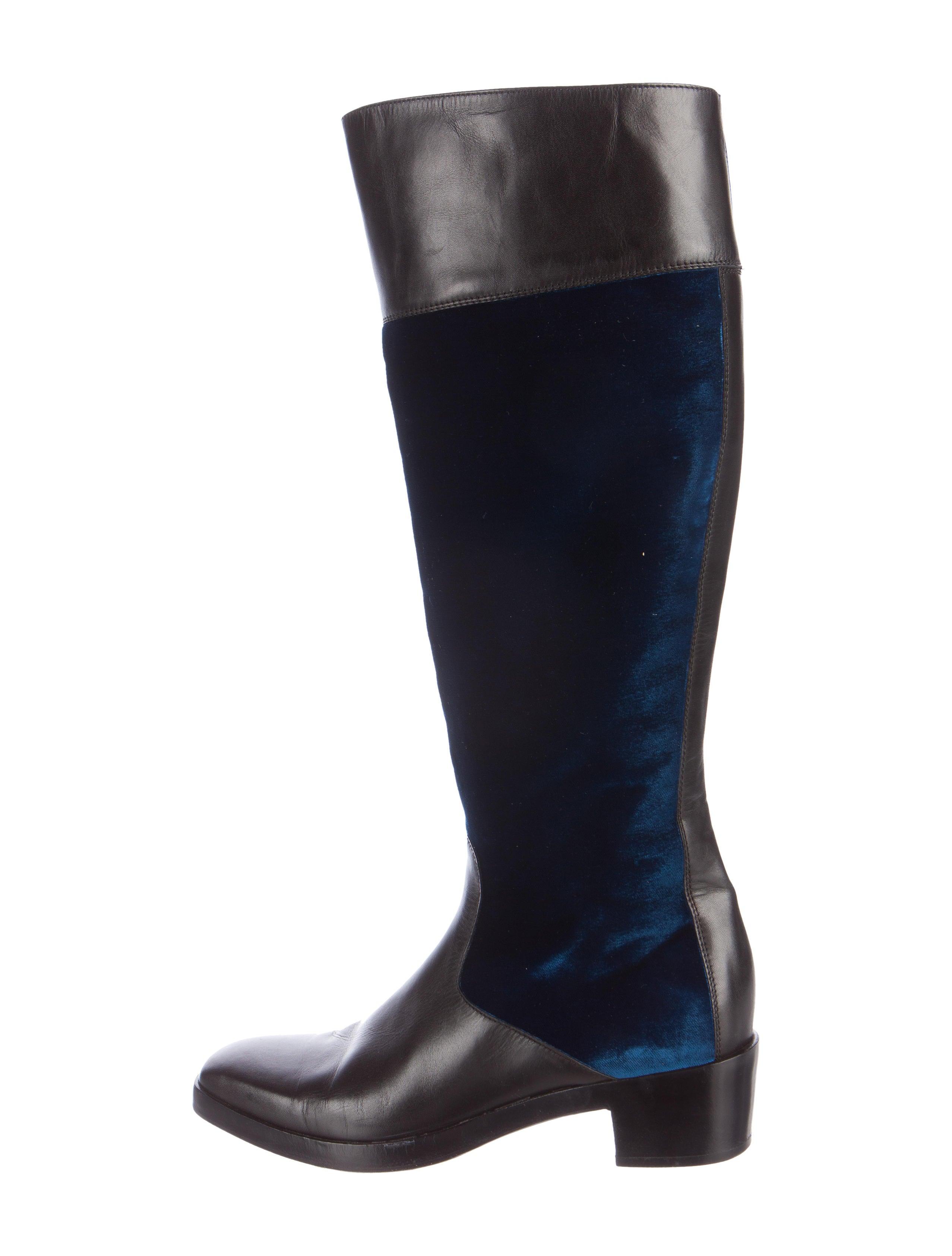 balenciaga velvet knee high boots shoes bal50913 the