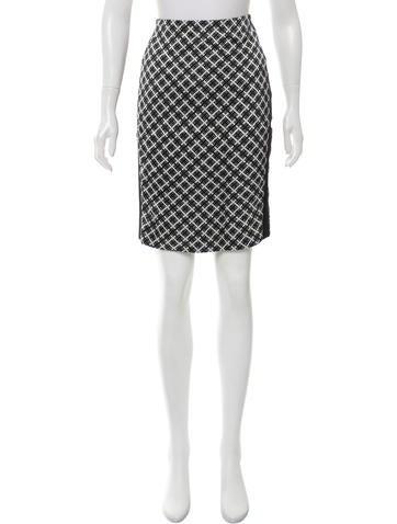 Balenciaga Printed Pencil Skirt None