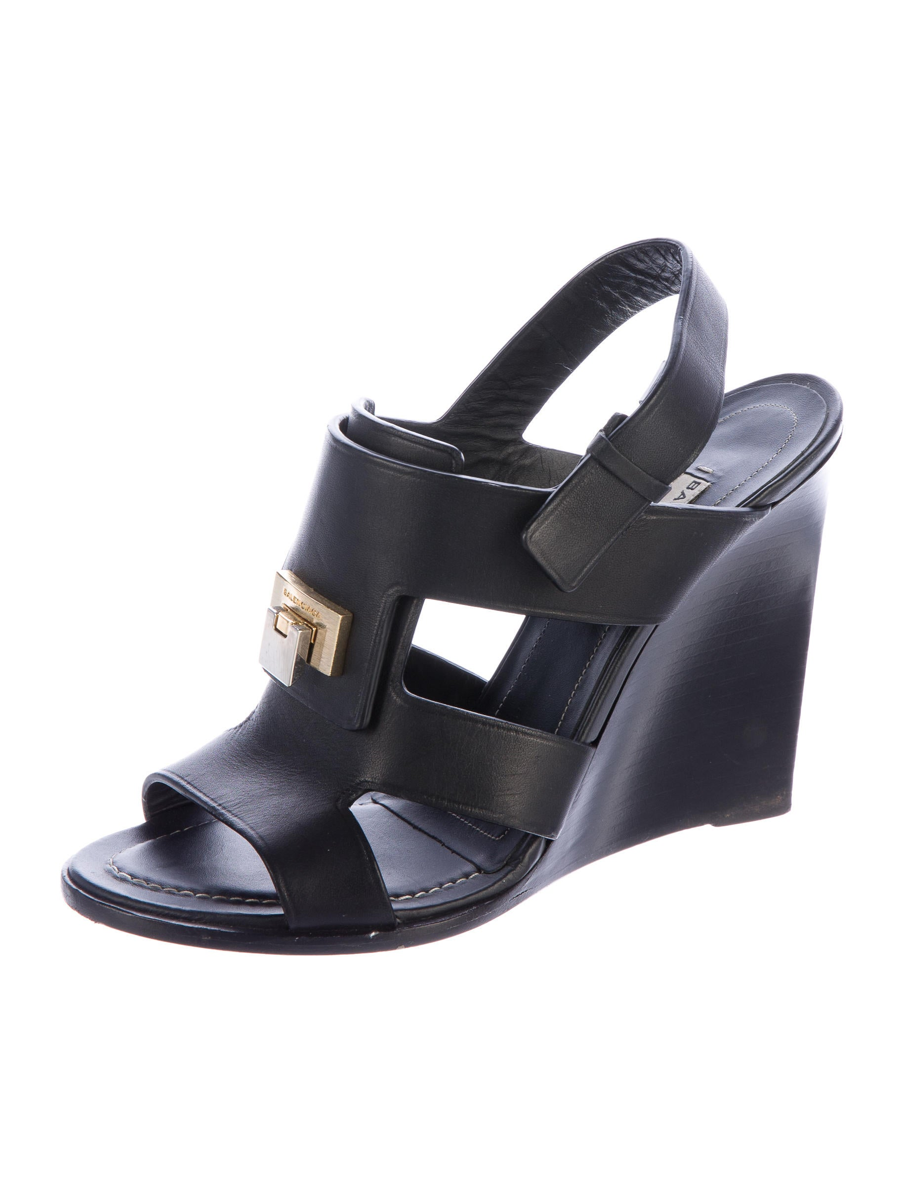 balenciaga leather wedge sandals shoes bal51090 the