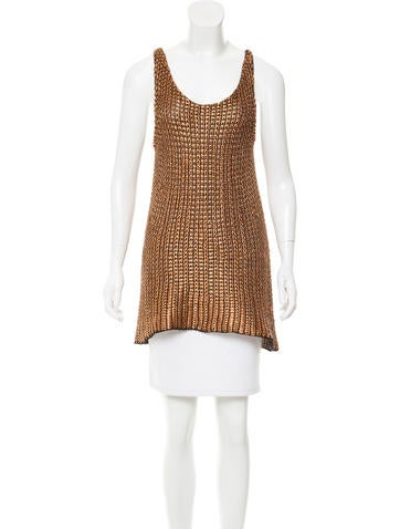 Balenciaga Metallic Knit Tunic None