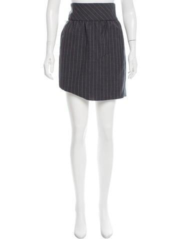 Balenciaga Wool Pinstripe Skirt None