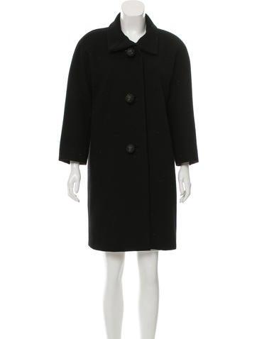 Balenciaga Embellished Wool Coat None
