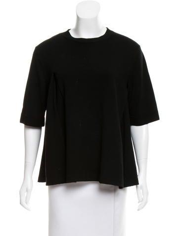 Balenciaga Short Sleeve Wool Top None