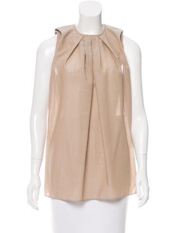 Balenciaga Pleated Wool Top None
