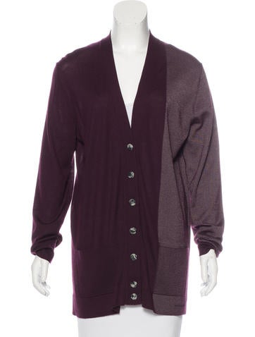 Balenciaga Two-Tone Cashmere Cardigan None