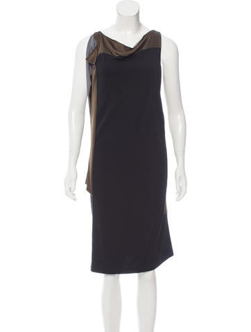 Balenciaga Sleeveless Knee-Length Dress None