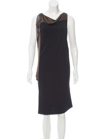 Balenciaga Sleeveless Knee-Length Dress None