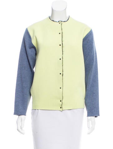 Balenciaga Knit Colorblock Jacket None