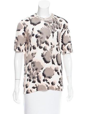 Balenciaga Abstract Print Wool Top None