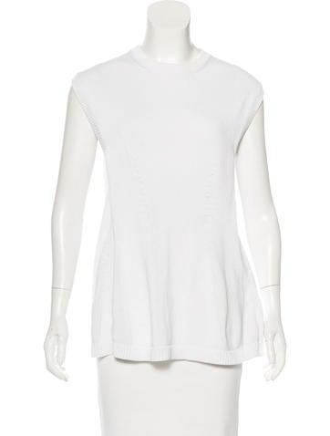 Balenciaga Sleeveless Crew Neck Sweater None