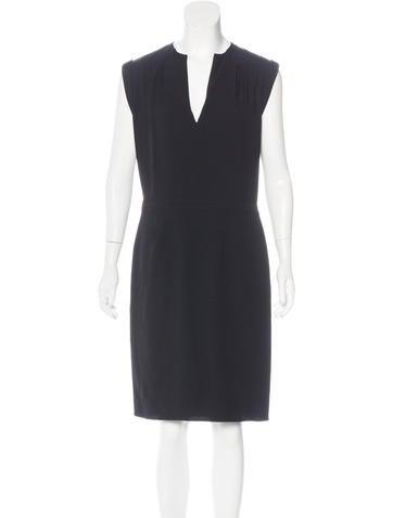 Balenciaga Sleeveless Sheath Dress None