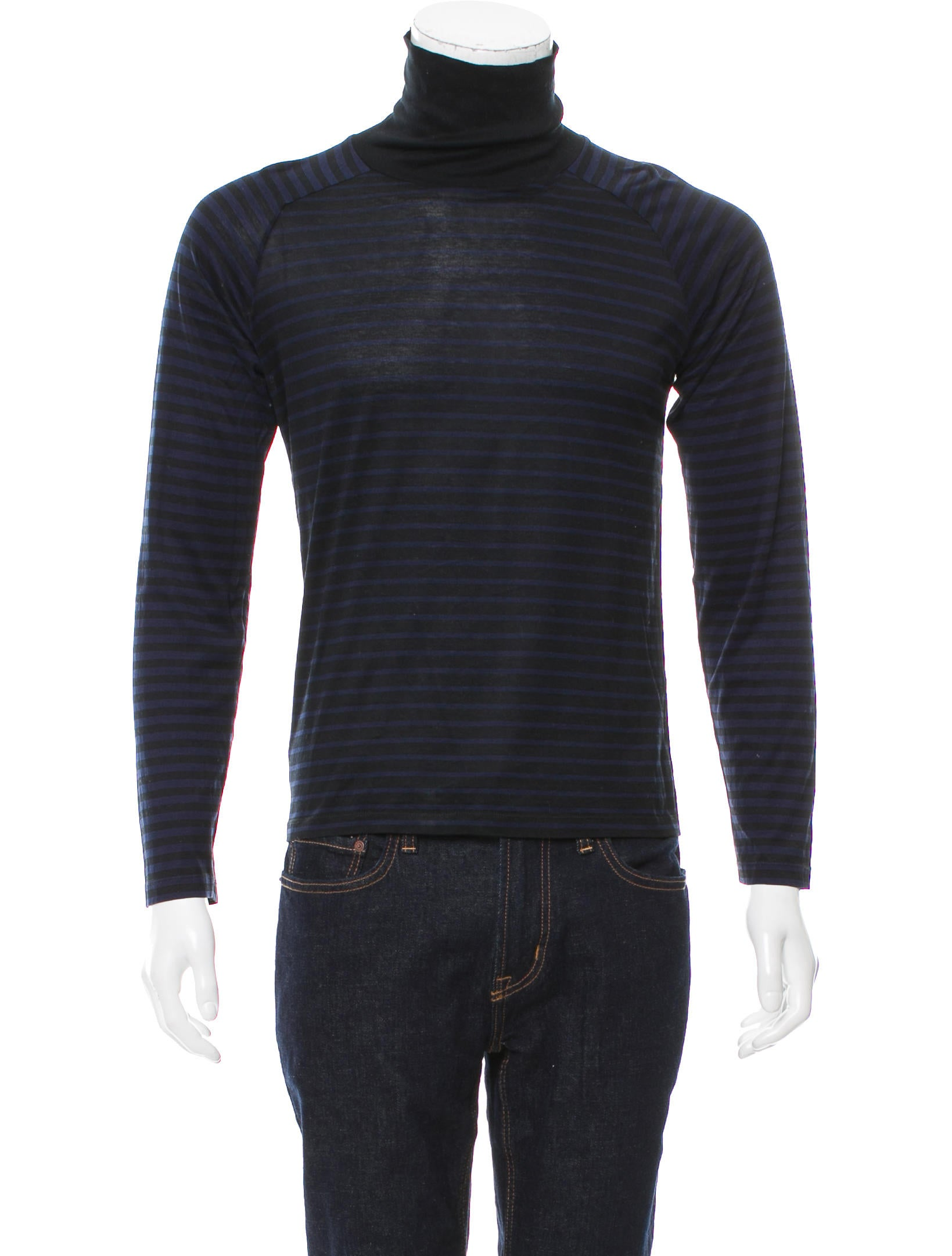 Balenciaga Striped Turtleneck Sweater - Clothing - BAL52400 | The ...