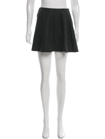 Balenciaga Wool Mini Skirt None