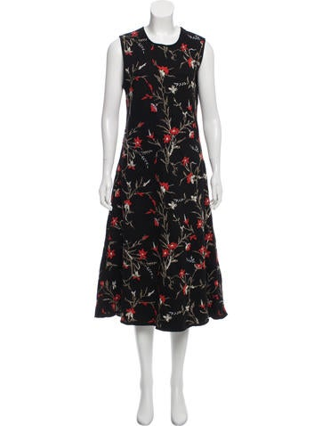 Balenciaga Floral Midi Dress None