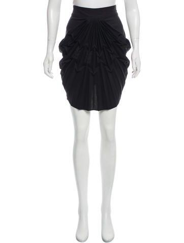 balenciaga pleated high low skirt clothing bal52504