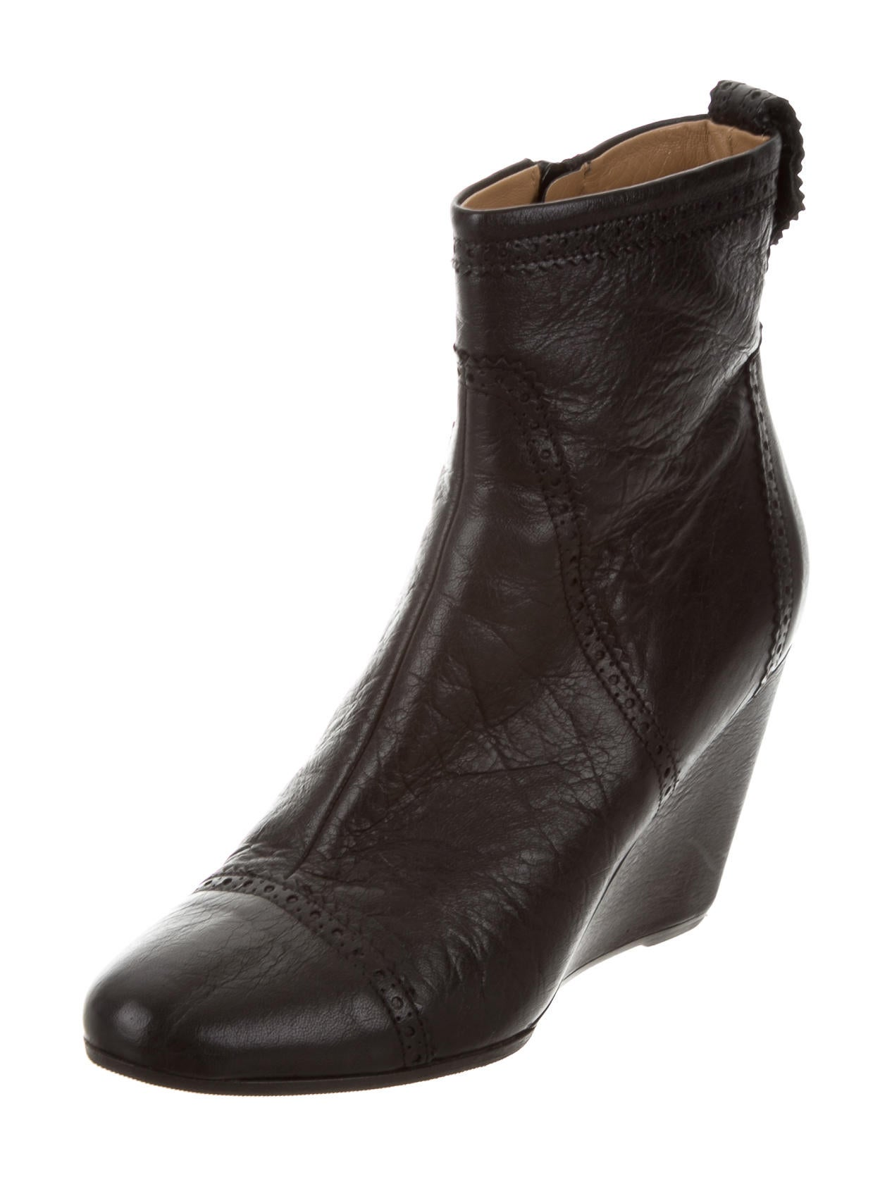 balenciaga leather wedge ankle boots shoes bal52508