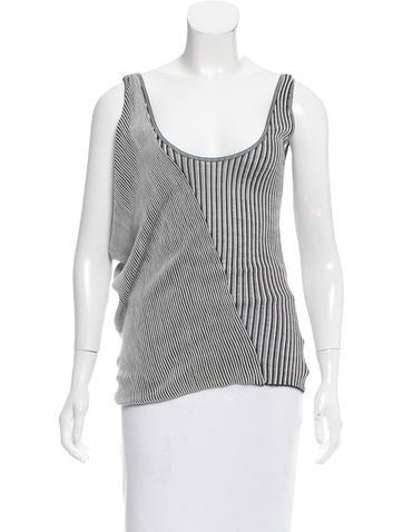 Balenciaga Silk Asymmetrical Top None
