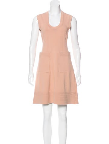 Balenciaga Knit Sleeveless Dress None