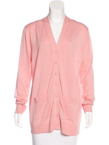 Balenciaga Longline Knit Cardigan None