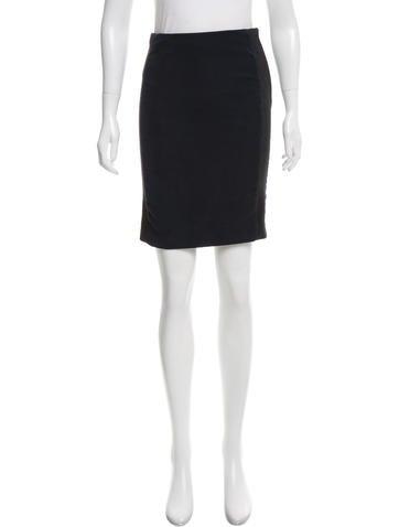 Balenciaga Textured Pencil Skirt None
