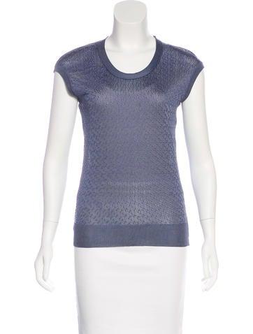 Balenciaga Open Knit Sleeveless Top None