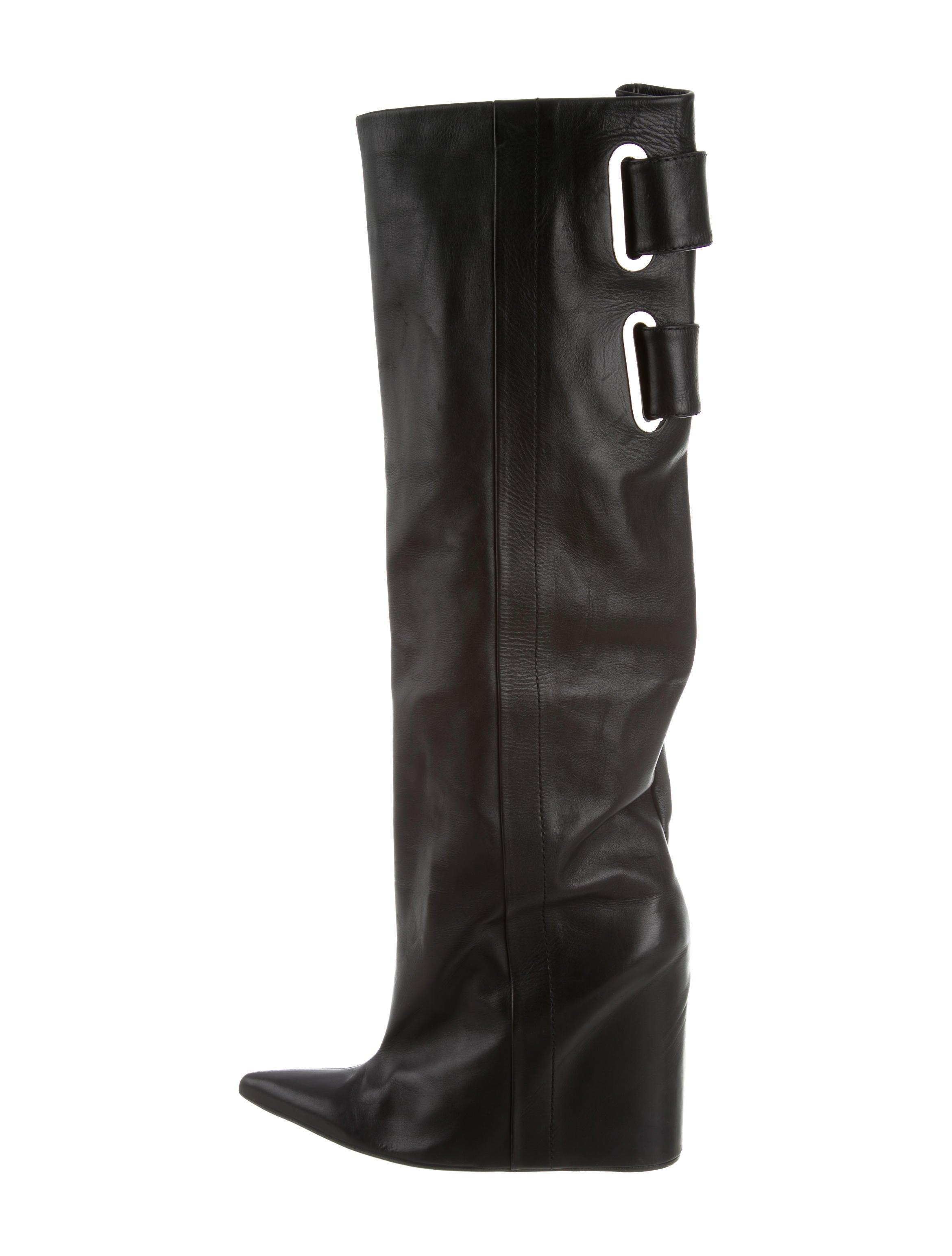 balenciaga knee high wedge boots shoes bal53367 the