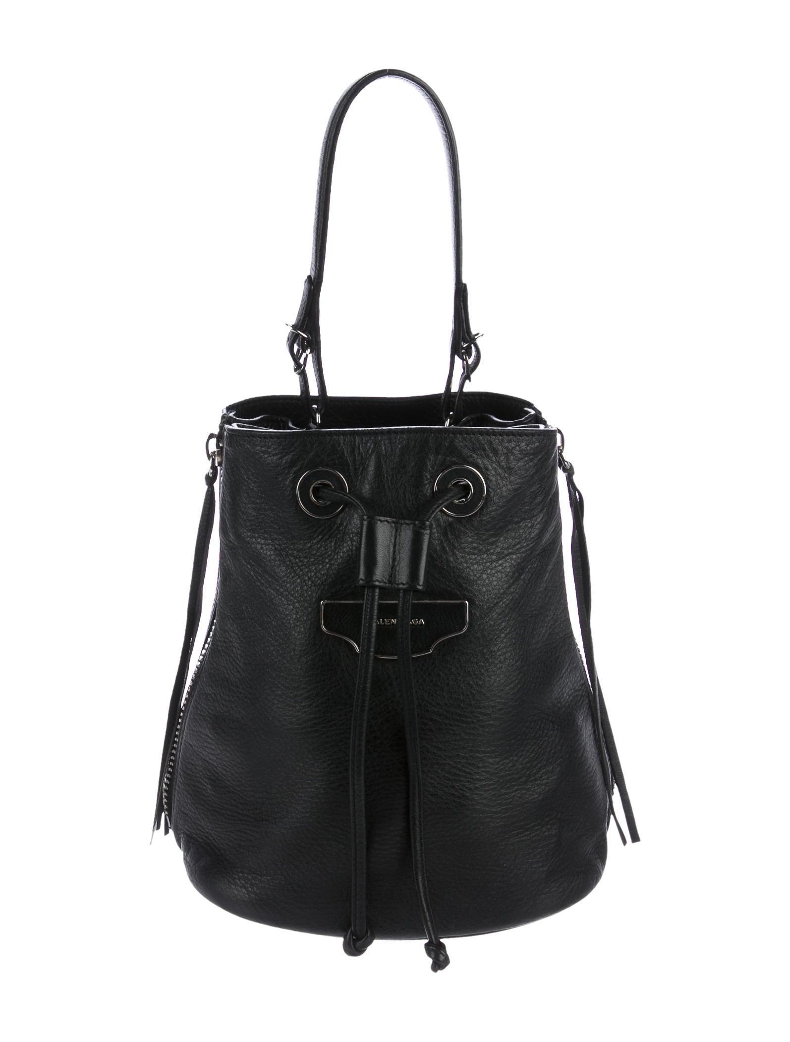 Balenciaga Papier Plate Bucket Bag - Handbags - BAL53600  b5898ca191aeb