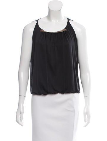 Balenciaga Embellished Sleeveless Top None