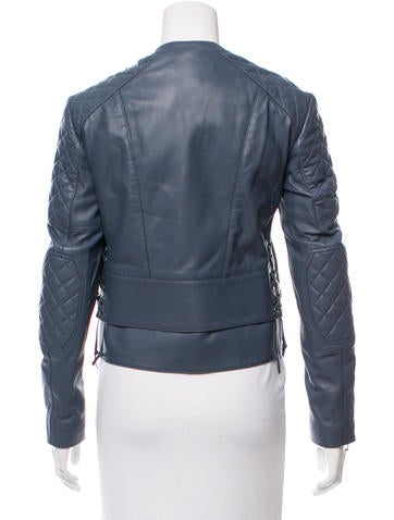 Balenciaga Quilted Leather Moto Jacket Clothing Bal53850 The