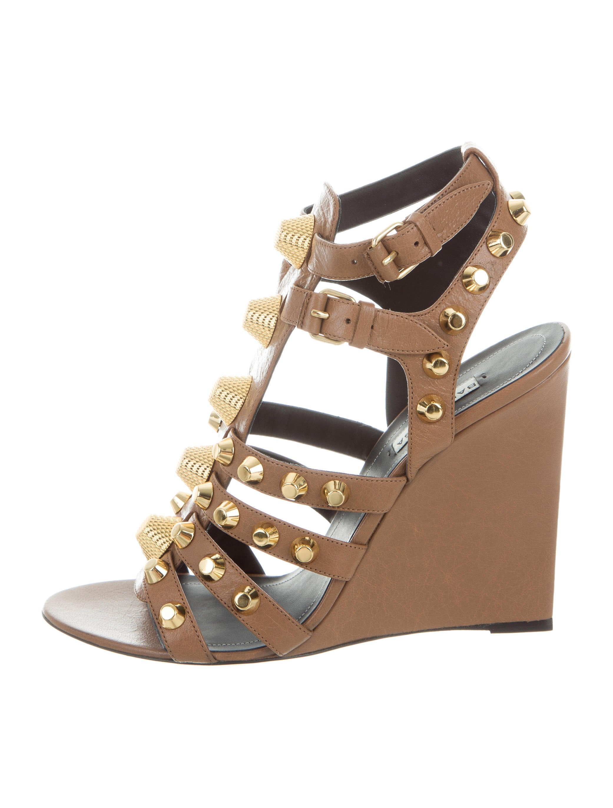 buy cheap visit outlet limited edition Balenciaga Studded Arena Wedges outlet with paypal order online SB433wp0v