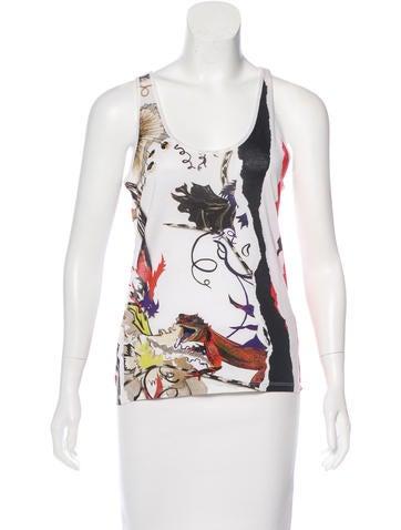Balenciaga Sleeveless Printed Top None