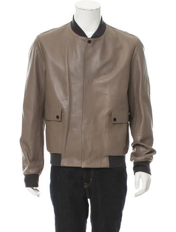 Balenciaga Leather Bomber Jacket w/ Tags None