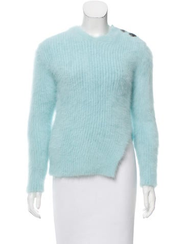 Balenciaga Rib Knit Angora Sweater None
