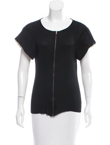Balenciaga Silk Ribbed Top None