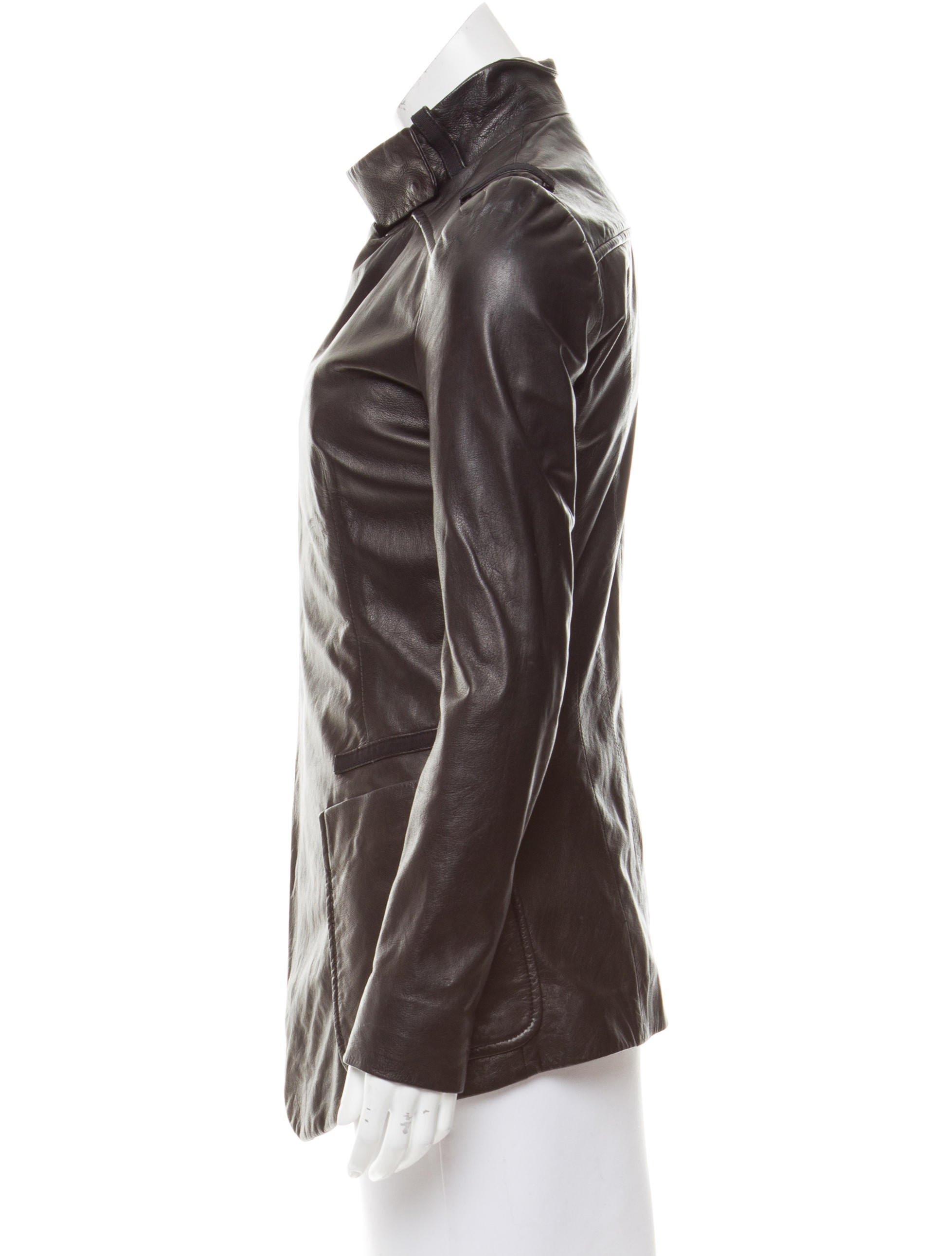 Balenciaga long sleeve leather jacket clothing for Leather jacket and shirt