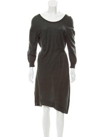 Balenciaga Wool Knee-Length Dress None
