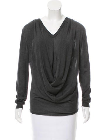 Balenciaga Draped Knit Sweater None