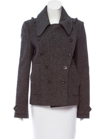 Balenciaga Double-Breasted Wool Coat None