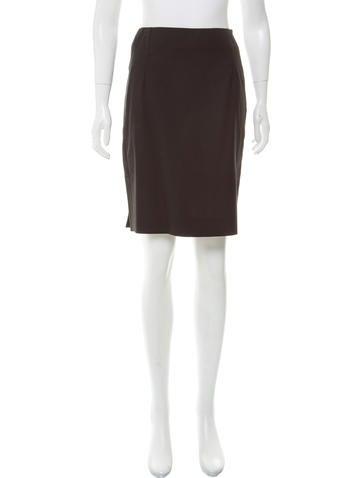 Balenciaga Wool Pencil Skirt None
