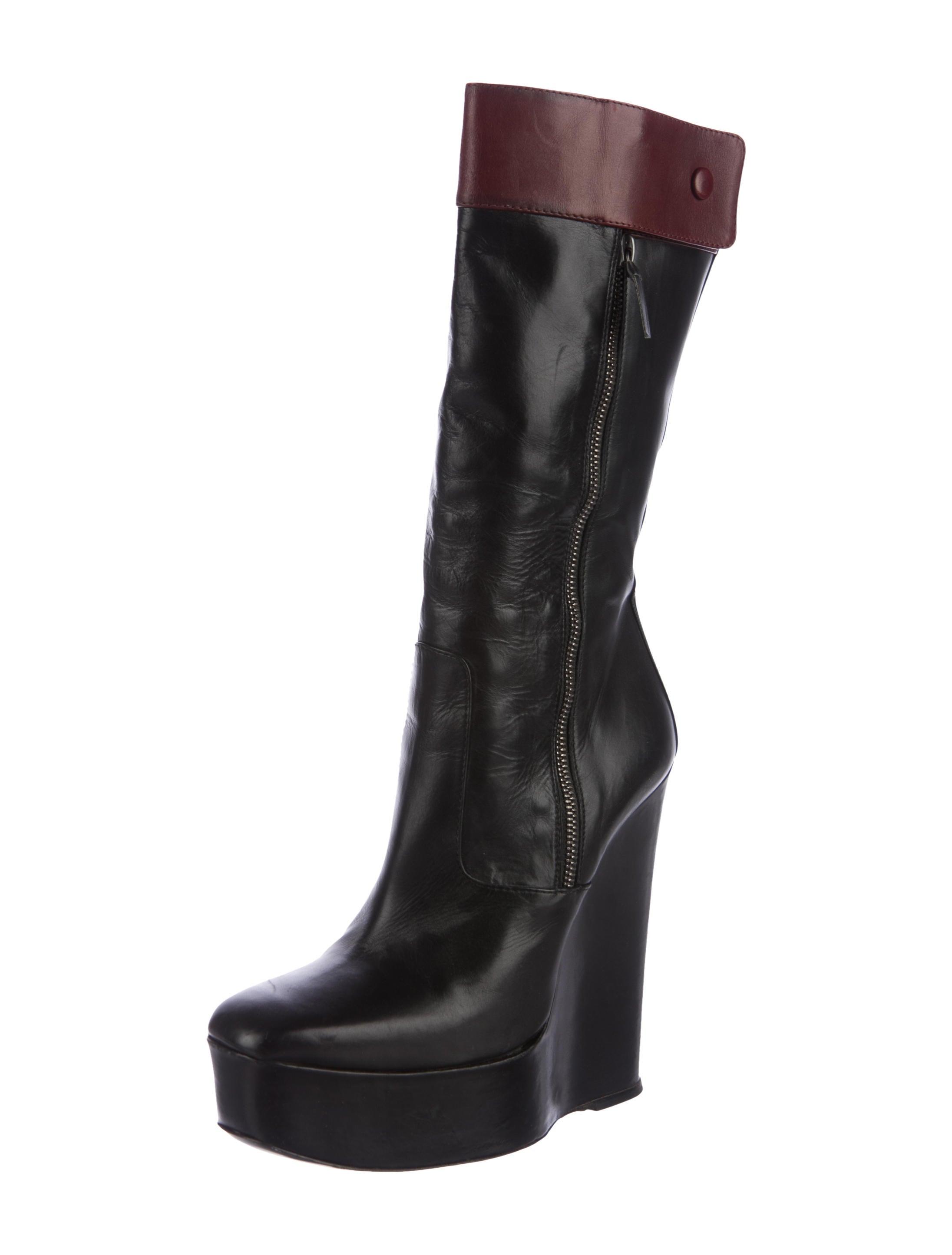 balenciaga leather mid calf boots shoes bal54516 the