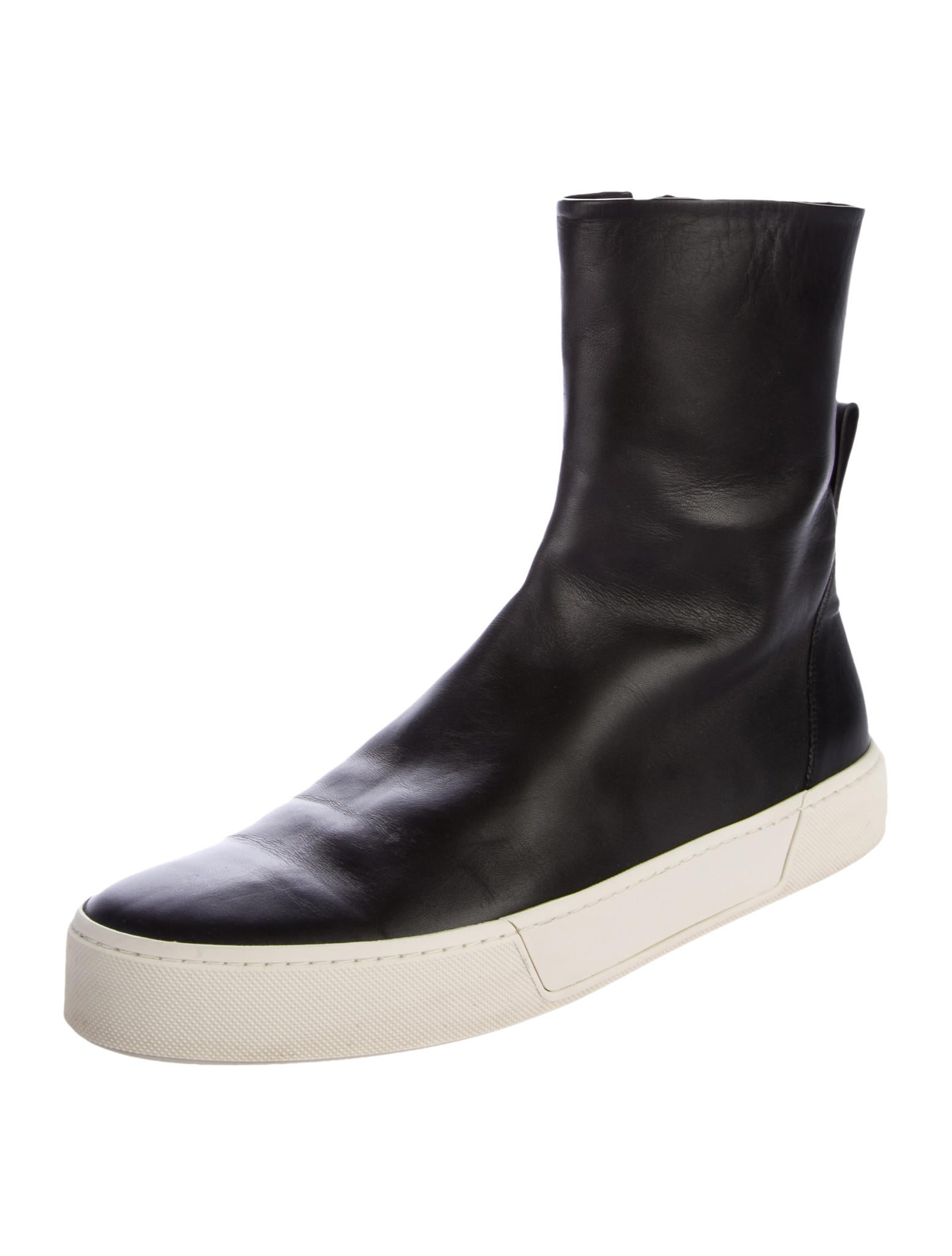 Balenciaga Leather Sneaker Boots - Shoes - BAL54648 | The ...