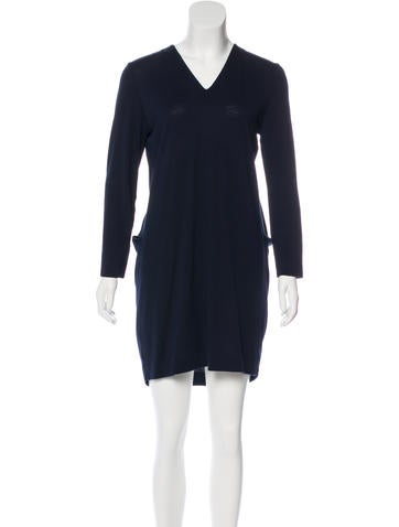 Balenciaga Wool Long Sleeve Dress None