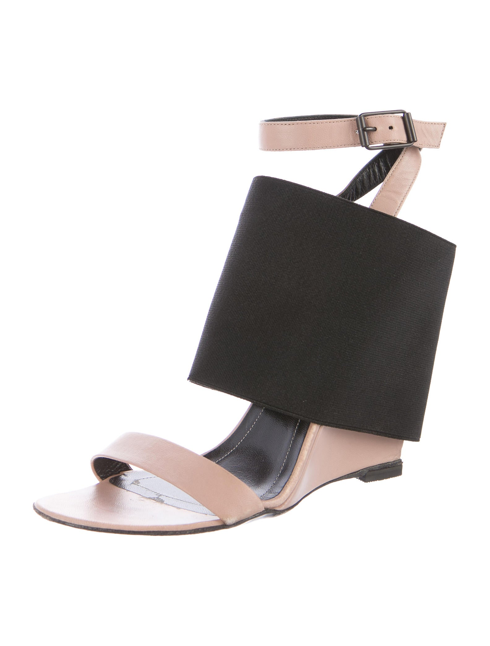 balenciaga leather ankle wedges shoes bal54876