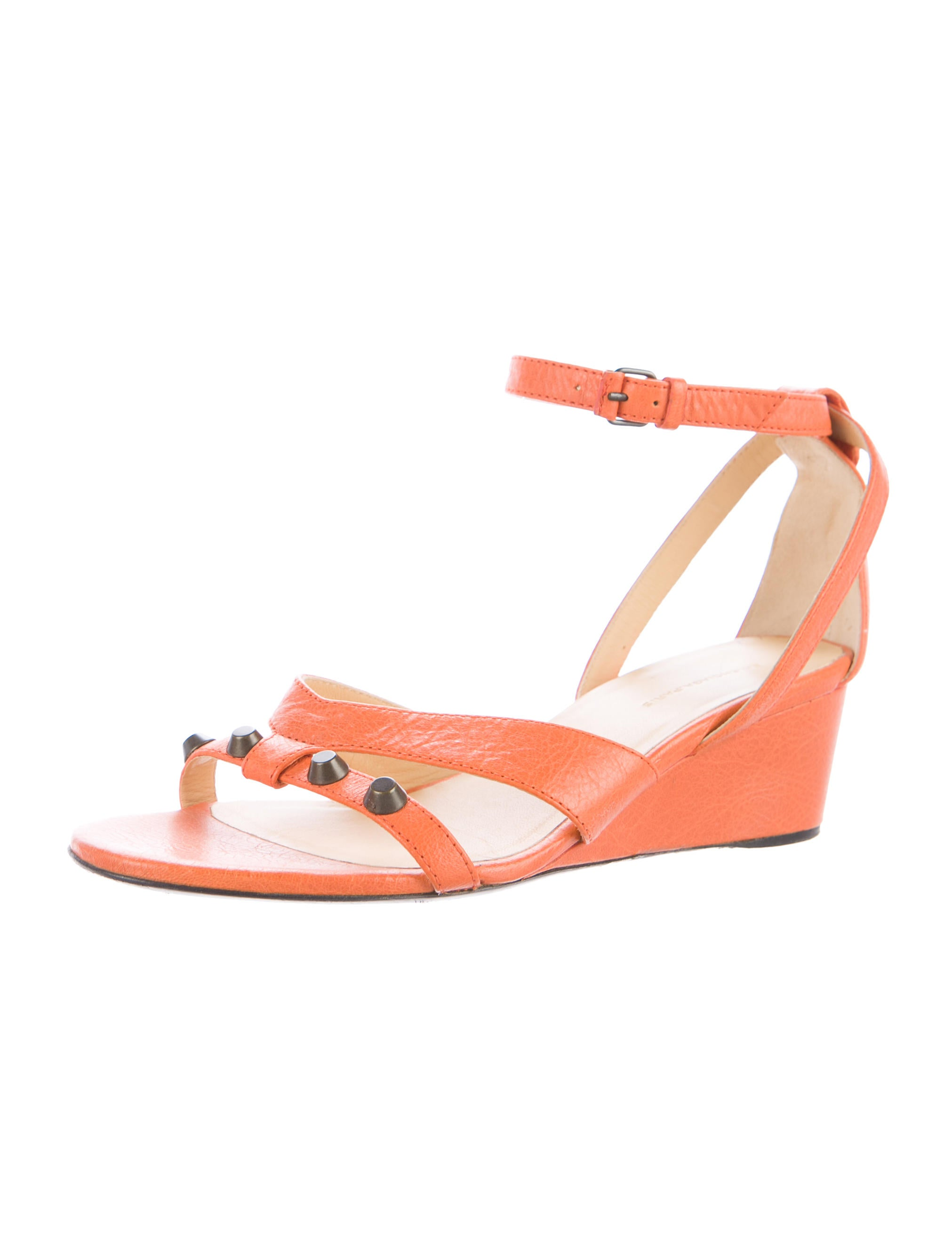balenciaga leather wedge sandals shoes bal54945 the
